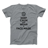 Egoteest - keep calm and wear a face mask t-shirt social distancing