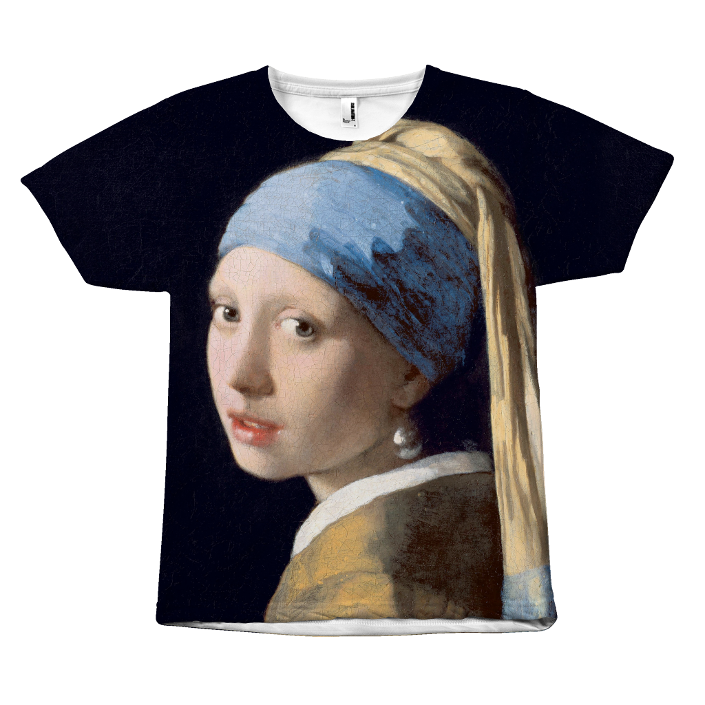 Egoteest Girl with a Pearl Earring painting T-shirt