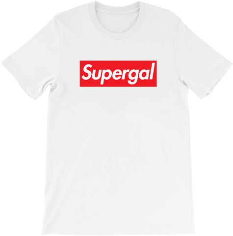 Super Gal - Supreme Parody T-shirt by Egoteest