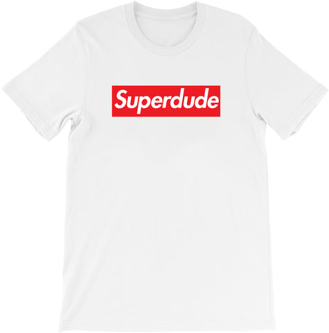 Super Dude - Supreme Parody T-shirt by Egoteest
