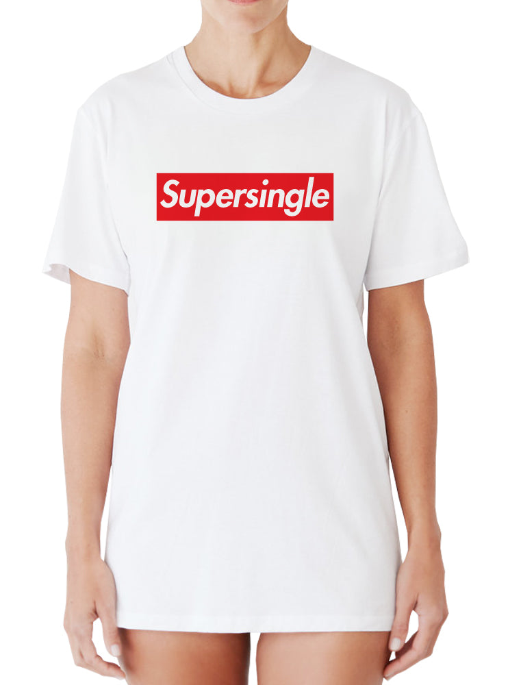 Super Single - Supreme Parody T-shirt by Egoteest