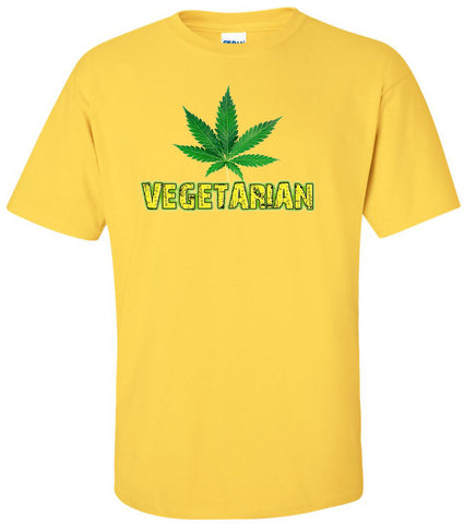 Vegetarian, Cannabis T-shirt