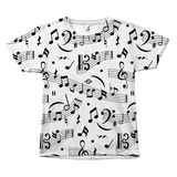abstract music notes t-shirt by Egoteest