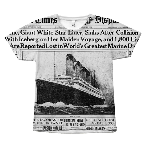 titanic news paper shirt by egoteest