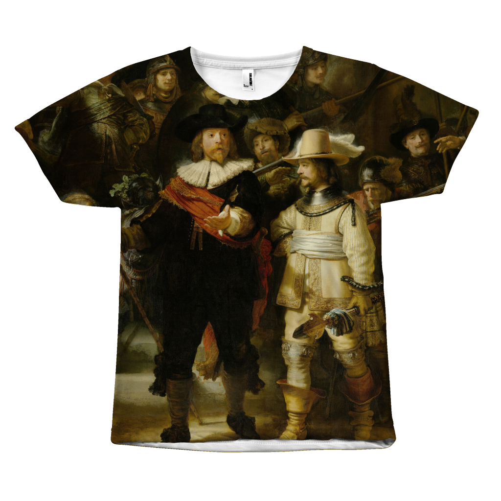 Egoteest The Night Watch Rembrandt Painting T-shirt