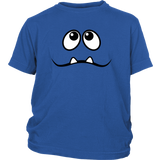 Sad Monster's Face 2 Teeth Youth T-shirt
