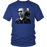 Egoteest Barack Obama with American Eagle sitting on his shoulder. I'll Be Back T-shirt