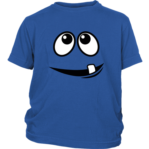 Smiling Monster's Face 1 Tooth Youth T-shirt