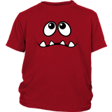 Sad Monster's Face 4 Teeth Youth T-shirt