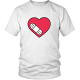 Band Aid Over A Broken Heart Unisex T-shirt