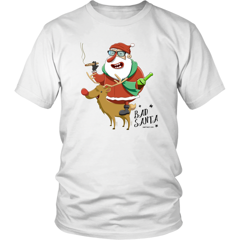 Bad Santa, Funny Holiday T-shirt
