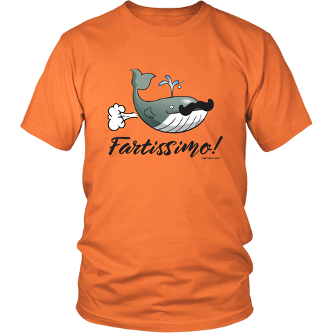 Egoteest: Fartissimo! Farting Whale T-shirt