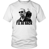 Barack Obama & American Eagle T-shirt. I'll Be Back. Transparent Background Version
