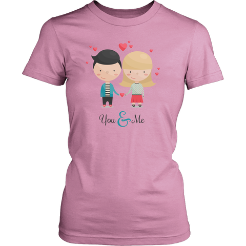Egoteest: You & Me, Couple in Love, Romantic Comic Men's T-shirt