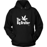 The Big Brother Cannabis Leaf. The Godfather Parody. White Print
