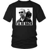 Egoteest: Obama with American Eagle. I'll Be Back. Political T-shirt