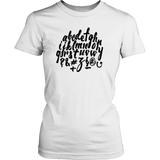 English Alphabet Women's T-shirt