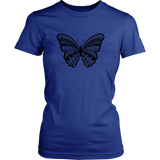 Tribal Butterfly Graphic Women's T-shirt