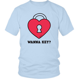 Wanna Key? Funny Romantic Unisex T-shirt