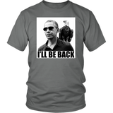 Obama with American Eagle. I'll Be Back. Political T-shirt