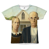 Egoteest American Gothic by Grant Wood Painting T-shirt