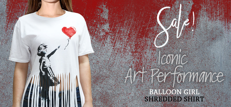 Banksy Shredded Girl With Balloon T-shirt