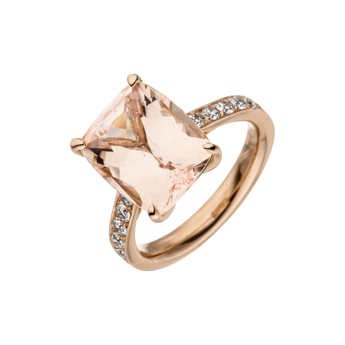 Statement Ring Morganit mit Brillanten