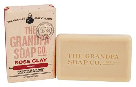 GRANDPA SOAP CO.  - ROSE CLAY SOAP (1.35 oz)