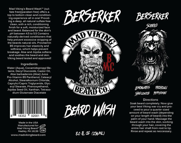 Mad Viking Berserker Beard Wash