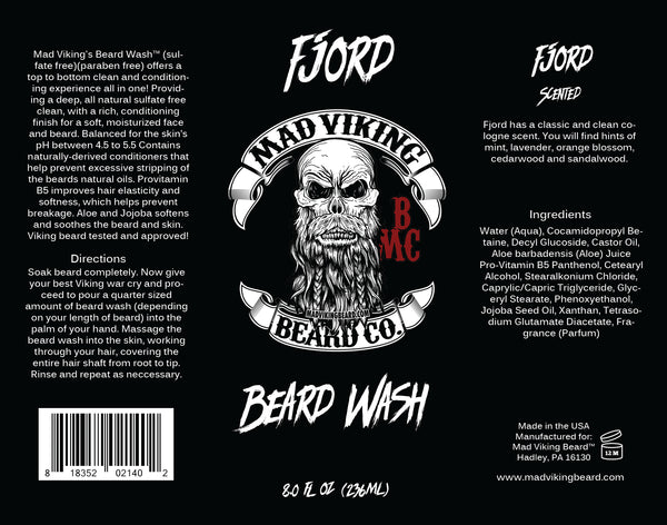 Mad Viking Fjord Beard Wash