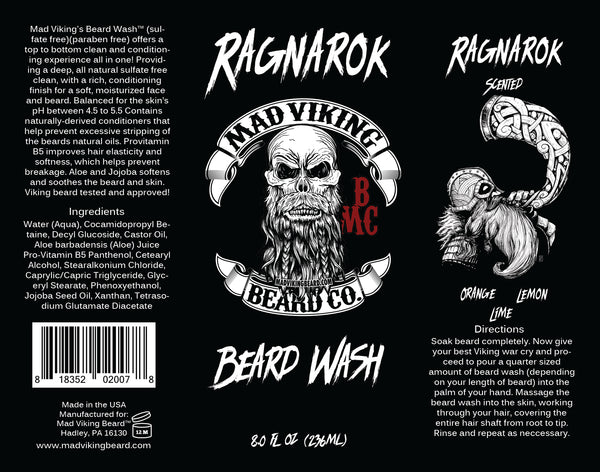 Mad Viking Ragnarok Beard Wash
