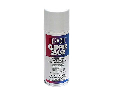 MAR-V-CIDE CLIPPER EASE SPRAY DISINFECTANT/ LUBRICANT 12 oz.