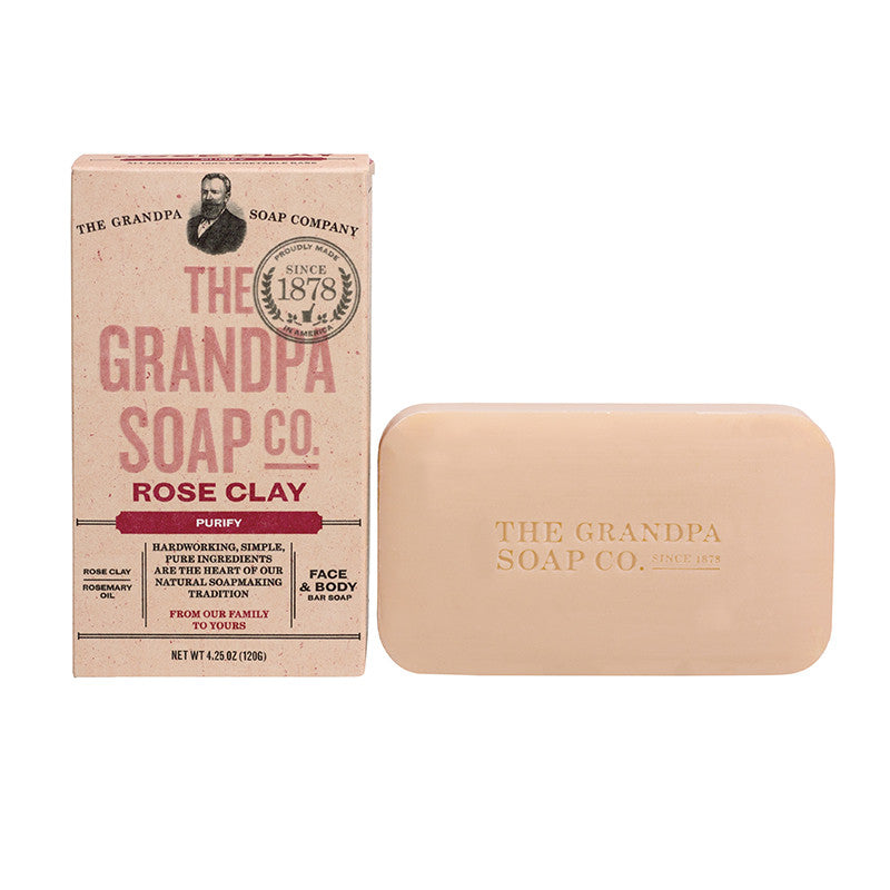 GRANDPA SOAP CO.  - ROSE CLAY SOAP (4.25 oz)