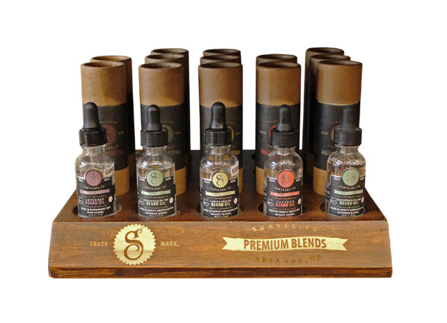 PREMIUM BEARD OIL DISPLAY