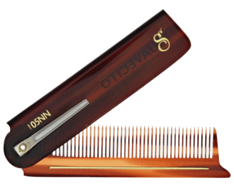 DELUXE AMBER FOLDING COMB