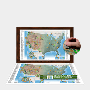 The National Parks Scratch Off Travel Map (11x18