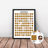 "The Greatest 100 Foods of the World Scratch Off Travel Print (16x20"")"