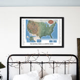 "The National Parks Scratch Off Travel Map (Large-36x24"")"