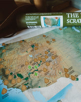 "The National Parks Scratch Off Travel Map (16x20"" - Wall-Size Edition)"