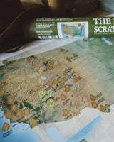 "The National Parks Scratch Off Travel Map (11x18"" - Travel-Size Edition)"