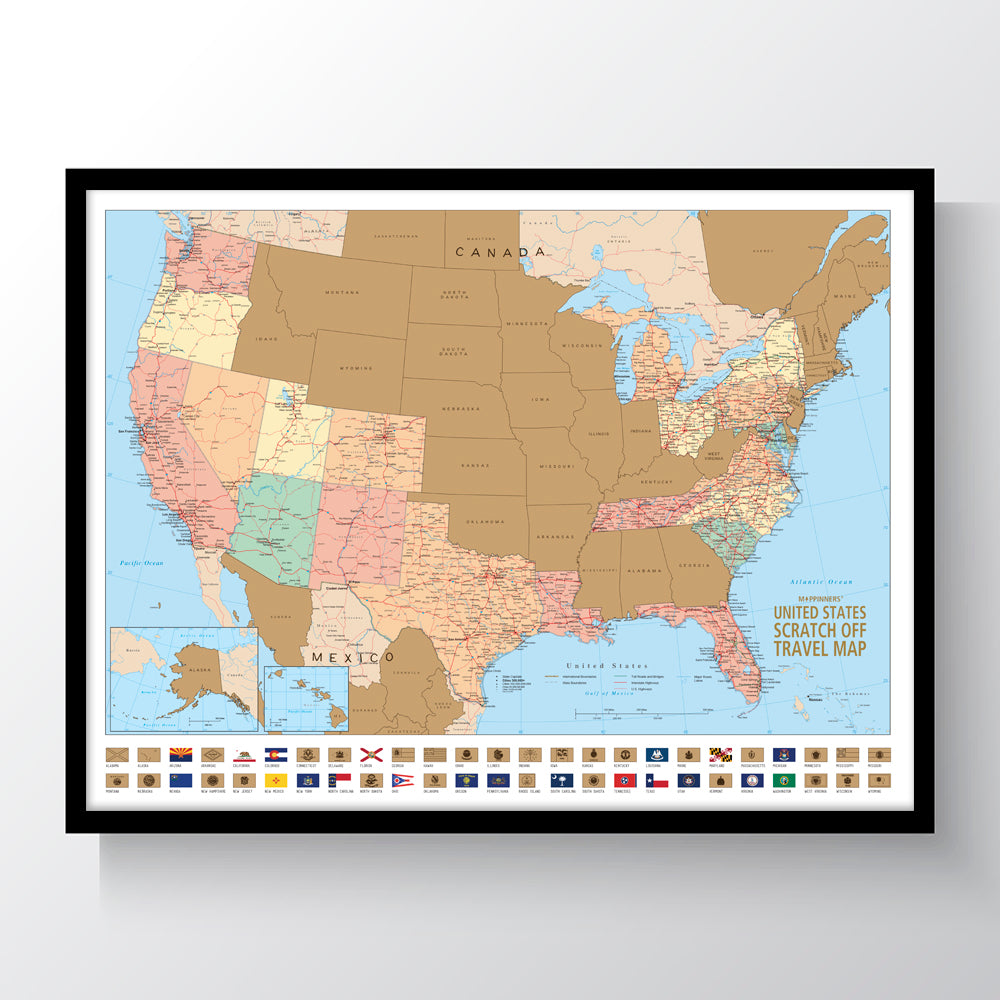 The United States Scratch Off Travel Map Mappinners
