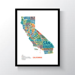 California Typography Art Print