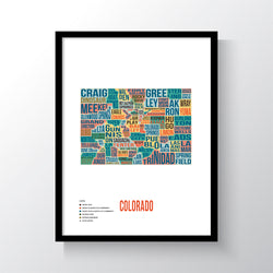 Colorado Typography Art Print