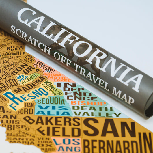 California Scratch Off Travel Map Mappinners