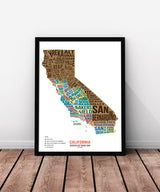 California Scratch Off Travel Map