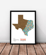 Texas Scratch Off Travel Map