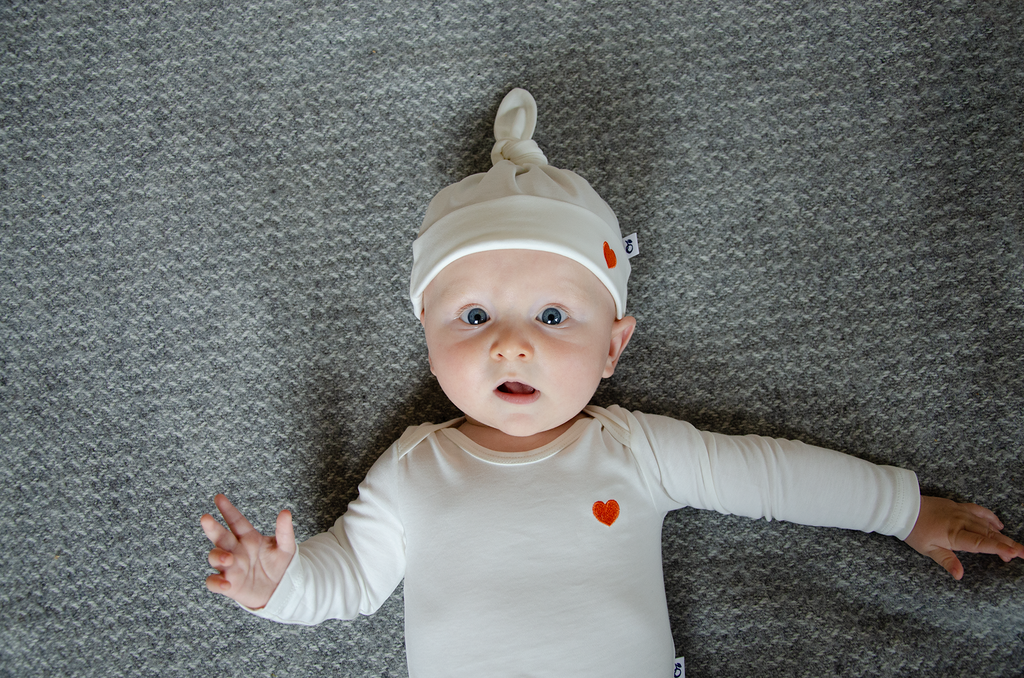 Newborn organic Pima cotton garments from Granelito