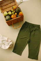 Ribbed Wide Pants, Olivine