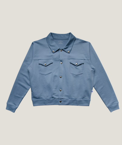 Foggy Blue Jersey Jacket ADULT- 100% Organic Pima Cotton