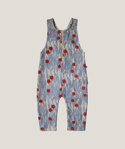 Winter Berries Overall, Blue